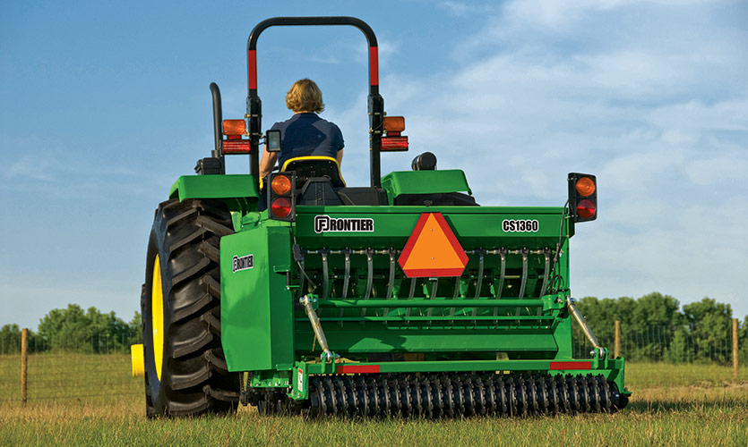 The Frontier Conservation Seeder helps restore a pasture.