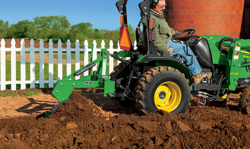Using a Frontier One-Bottom Plow to create a large vegetable garden.